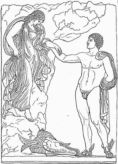 Персей и Андромеда с сандалиями вознесения от Меркурия